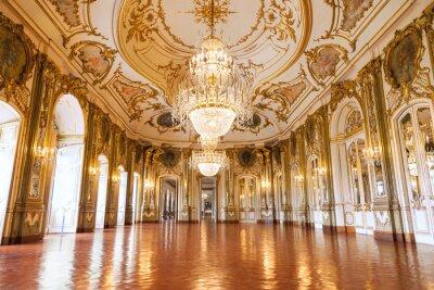 Fototapeta Ballroom of Queluz National Palace, Portugalia