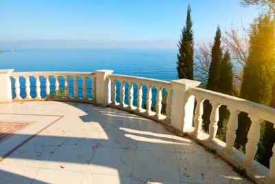Fototapeta Balustrada w pobliżu morza