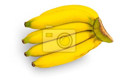 bananów samodzielnie na białym tle