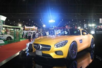 Fototapeta Bangkok 24 czerwca: Mercedes Benz GTS samochód na wystawie w Bangkok International Auto Salon 2015 w dniu 24 czerwca 2015 roku w Bangkoku w Tajlandii.