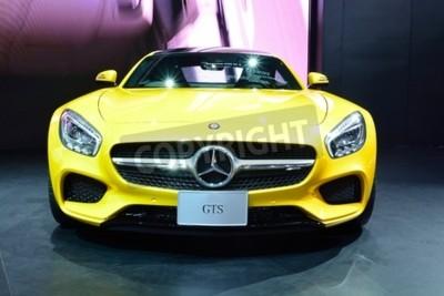Fototapeta BANGKOK - 26 marca: Mercedes Benz AMG GTS na wystawie w 36. Bangkok International Motor Show w dniu 26 marca 2015 r Bangkoku w Tajlandii.