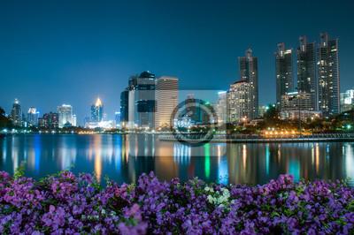 Bangkok miasto o zmierzchu
