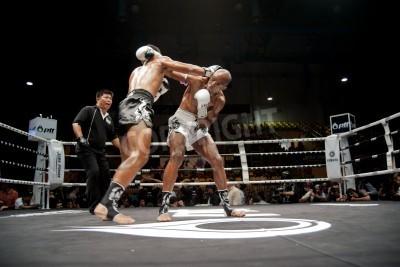 Fototapeta BANGKOK Tajlandii-25 września: tajski Fight: boks Thai..World