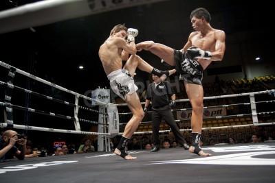 Fototapeta BANGKOK THAILAND- SEPTEMBER 25 : Thai Fight : Muay Thai..World