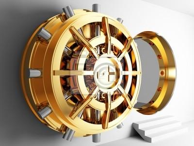 Fototapeta Bank Vault drzwi 3D