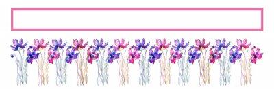Fototapeta Banner con fila di fiori e spazio per testo