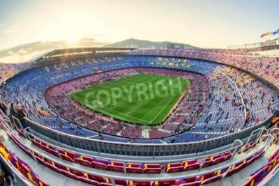 Fototapeta BARCELONA, HISZPANIA - 19 kwietnia: Stadion piłkarski w dniu 19 kwietnia 2017 w Barcelonie