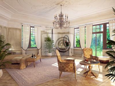 Fototapeta barockes sypialnie - sypialnia barokowy