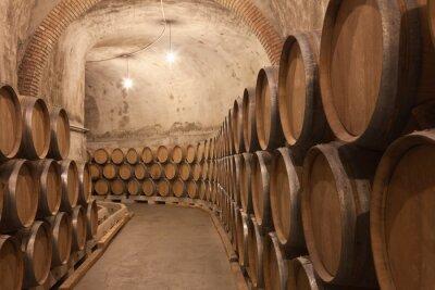 Fototapeta Barriles de vino en La Bodega