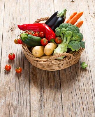 Fototapeta Basket with fresh vegetables