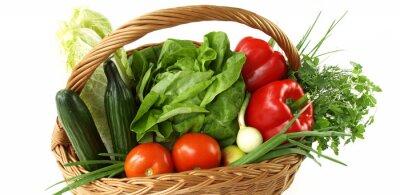 Fototapeta Basket with vegetables