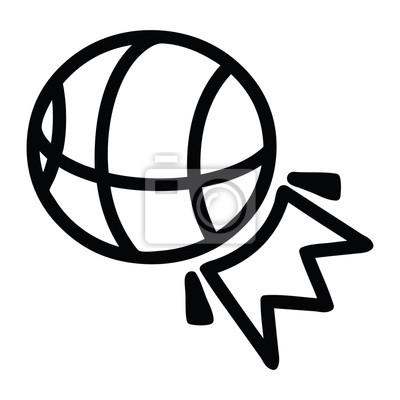 Fototapeta basketball sports icon