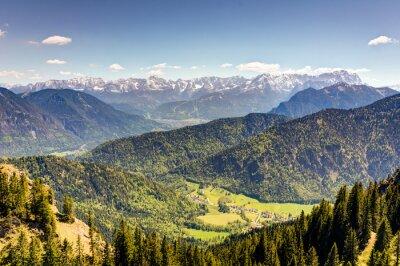 Fototapeta Bawarski krajobraz górski