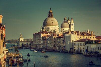 Fototapeta Bazylika Santa Maria della Salute w czasie zachodu słońca, Wenecja, Włochy