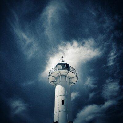 Fototapeta Beacon in Tarragona, Spain