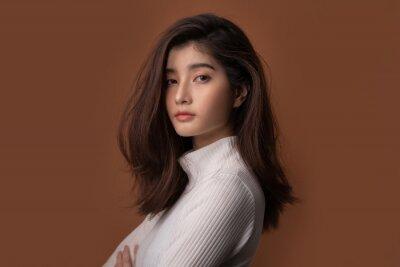 Fototapeta Beautiful asian woman with a beautiful face