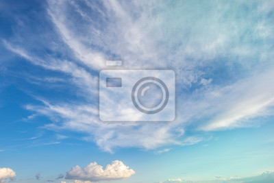 Beautiful blue sky and clouds. Nature sky background.