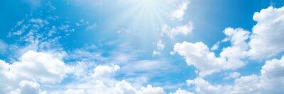 Fototapeta Beautiful blue sky cloudsfor background. Panorama of sky.