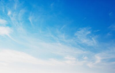 beautiful blue sky with white cloud and sunlight