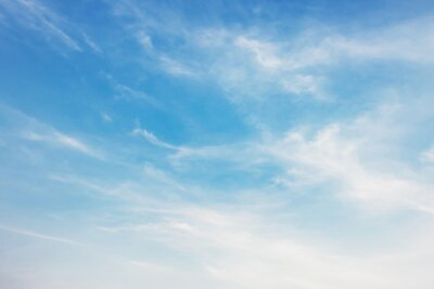 beautiful blue sky with white cloud view nature
