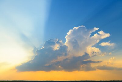 Beautiful clouds and sunset sky background