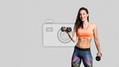 Fototapeta Beautiful fitness girl posing