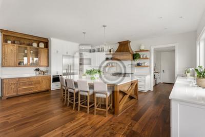 Fototapeta Beautiful Kitchen in New Luxury Home