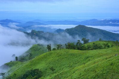 Beautiful mountains and fog at Chiang rai, Thailand.
