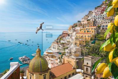 Fototapeta Beautiful Positano on Amalfi Coast in Campania, Italy