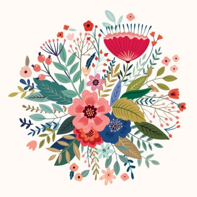 Fototapeta Beautiful romantic flower spring bouquet