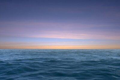 Beautiful sea water on sunset sky