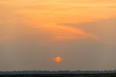 Beautiful sun and sunset sky background
