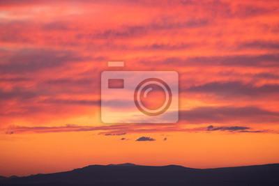 Beautiful sunset sky, colorful clouds.