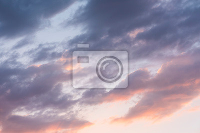 Beautiful sunset sky with clouds. Nature sky backgrounds.
