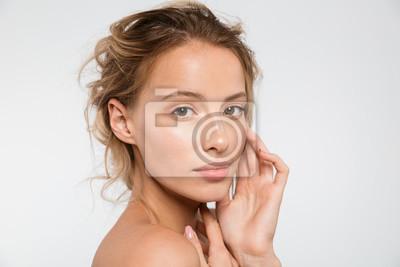 Fototapeta Beauty portrait of an attractive blonde woman