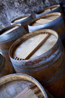 Fototapeta Beczka, beczki, wina Bordeaux, Bordeaux, piwnica, piwnica