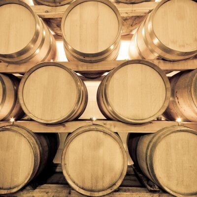 Fototapeta beczki wina do winiarni