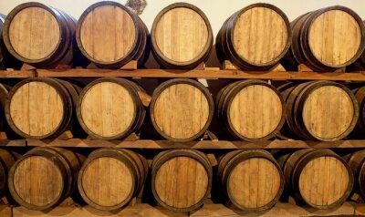 Fototapeta Beczki wina w Bodega, Lanzarote
