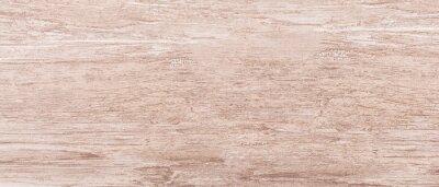 Fototapeta Beige rough wooden texture background. Table top view