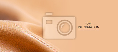 Fototapeta Beige yellow leather material fabric nature pattern on blur background