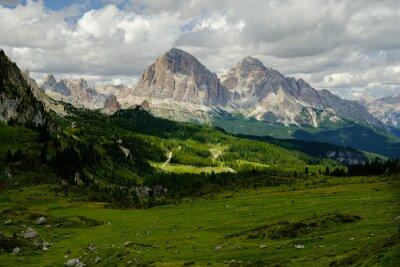 Fototapeta Bergwandern w Dolomiten, Höhenweg 1, Alta Via 1, Italien