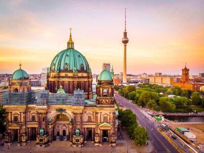 Fototapeta Berliner dom after sunset, Berlin