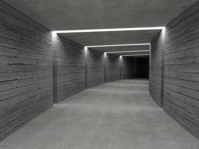 Fototapeta beton tle tunelu