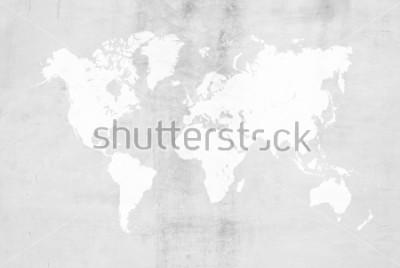 Fototapeta Betonowego tynku cementowego froterowania loft stylu ścienna lub podłogowa tekstura tekstury powierzchni tła abstrakcjonistyczny use dla tła z światową mapą