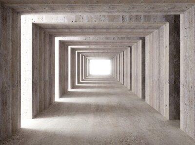 Fototapeta betonowy tunel i boczne światła