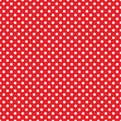 Fototapeta bez szwu czerwony polka dot tle