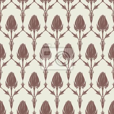 Bez szwu kwiatowy wzór z tulipanów