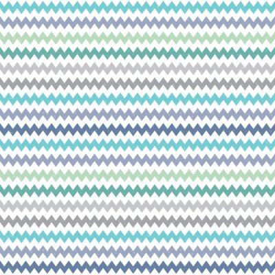 Fototapeta bez szwu wzór chevron hipster niebieski zielony szary