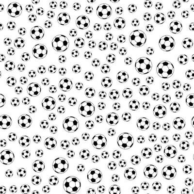 Fototapeta Bez szwu wzorów z piłki nożnej. Czarny i biały. Ilustracji wektorowych