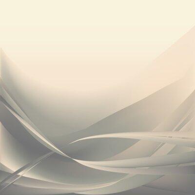 Fototapeta Beżowy i szary fale świetlne abstrakcyjne tło proste